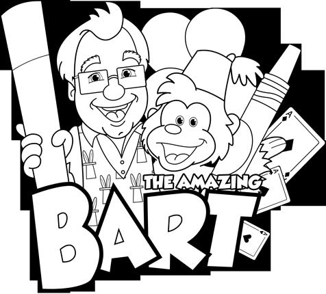 Farmingdale, NY The Amazing Bart Coloring Activity
